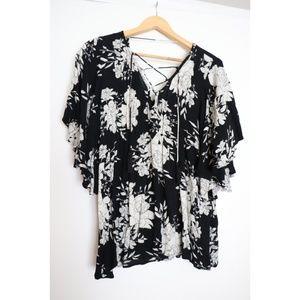 Billabong floral blouse